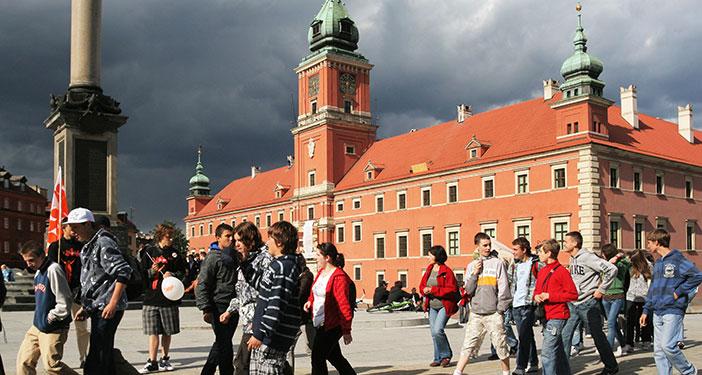 הטירה המלכותית, שחזור מדוייק של הטירה שנחרבה במלחמת העולם השנייה (Mariusz Cieszewski/Ministry of Foreign Affairs of the Republic of Poland)