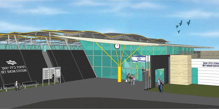 הדמיה של התחנה בבית שאן (סוכנות ג'יני)