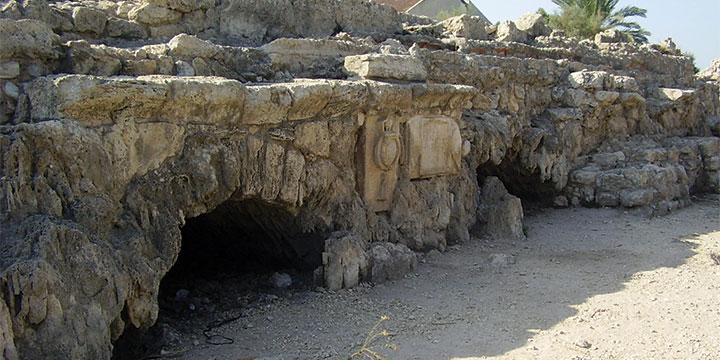 האמה הרומית והכתובת הקבועות מה ליד בית חנניה (אבישי טייכר)